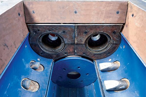 Футеровка из стали Hardox 500 для двухвального смесителя